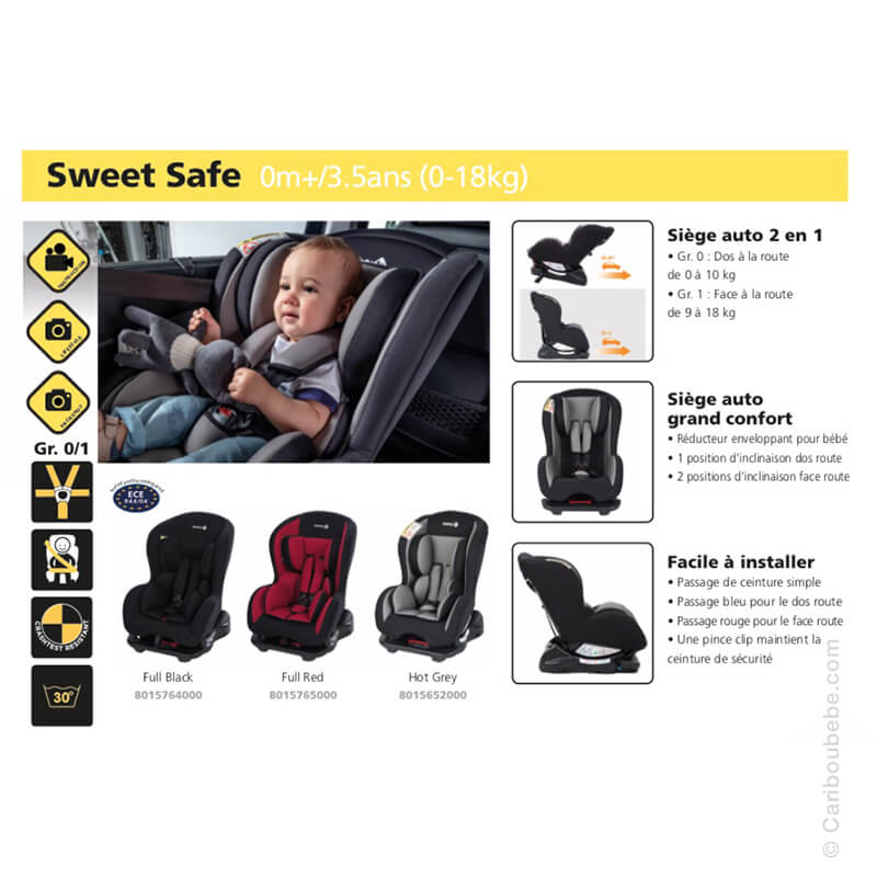 Siège Auto Sweet Safe Gpe0+/1 Safety