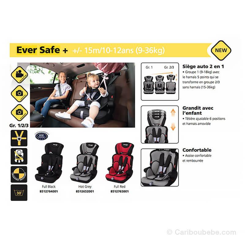 Siège Auto Ever Safe + Gpe1-2-3 Safety