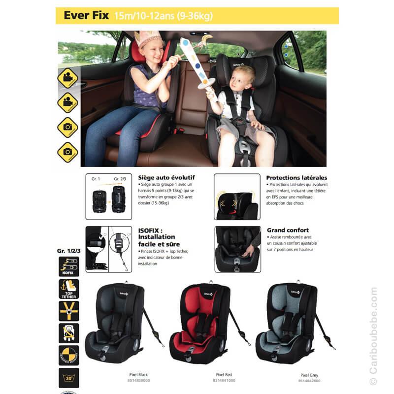 Sièges Auto Ever Fix Gpe1-2-3 Safety