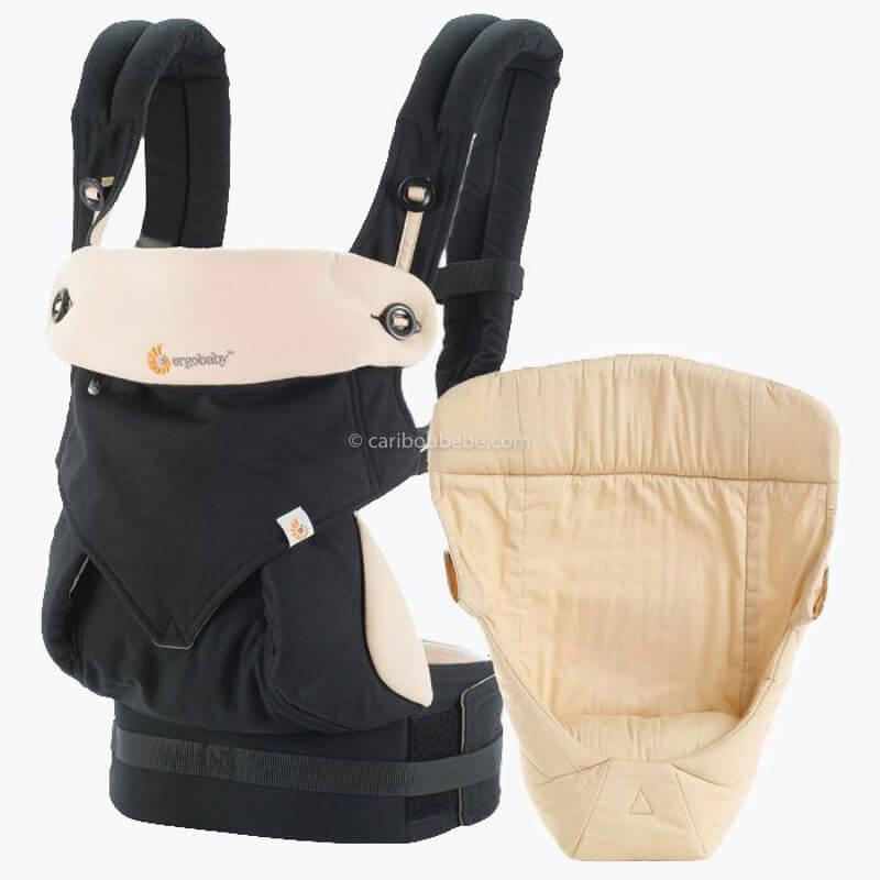 Porte-bébé Latéral Pack Évolutif 360 4 Positions Noir&Beige Ergobaby