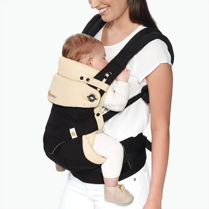 Porte-bébé Latéral Pack Évolutif 360 4 Positions Noir&Beige2 Ergobaby
