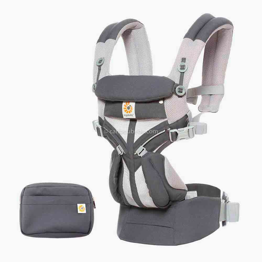 Porte-bébé Omni 360 Cool Air Mesh 4 positions Carbon Grey3 Ergobaby