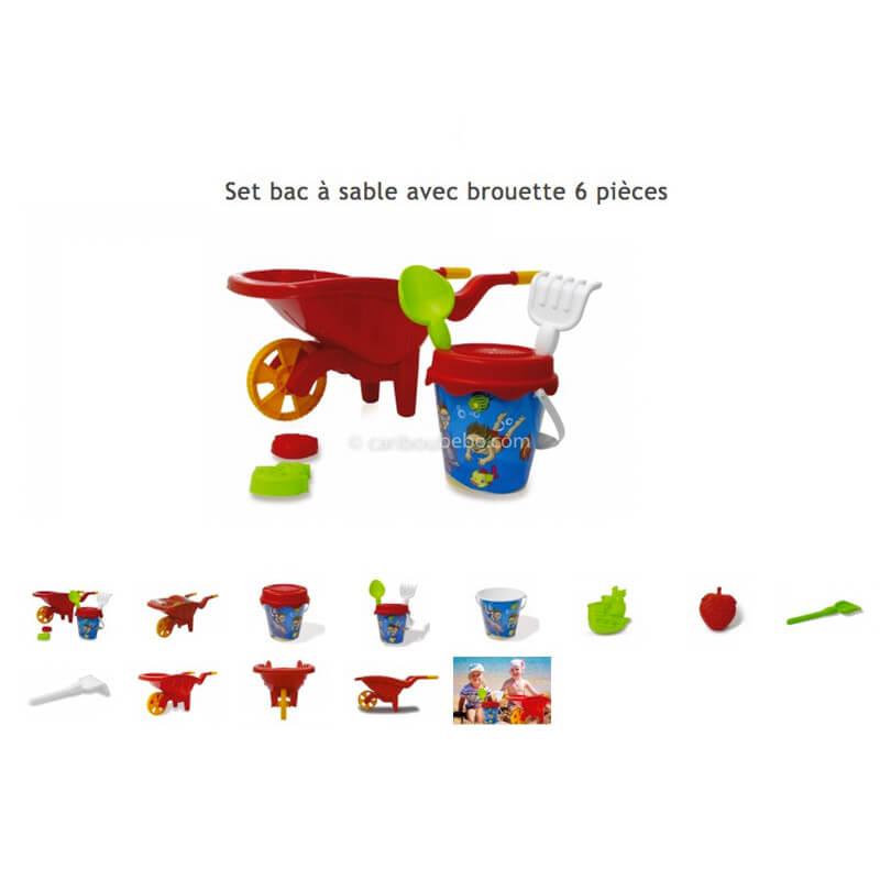 Set Bac à Sable + Brouette 6Pces 12M Jamara