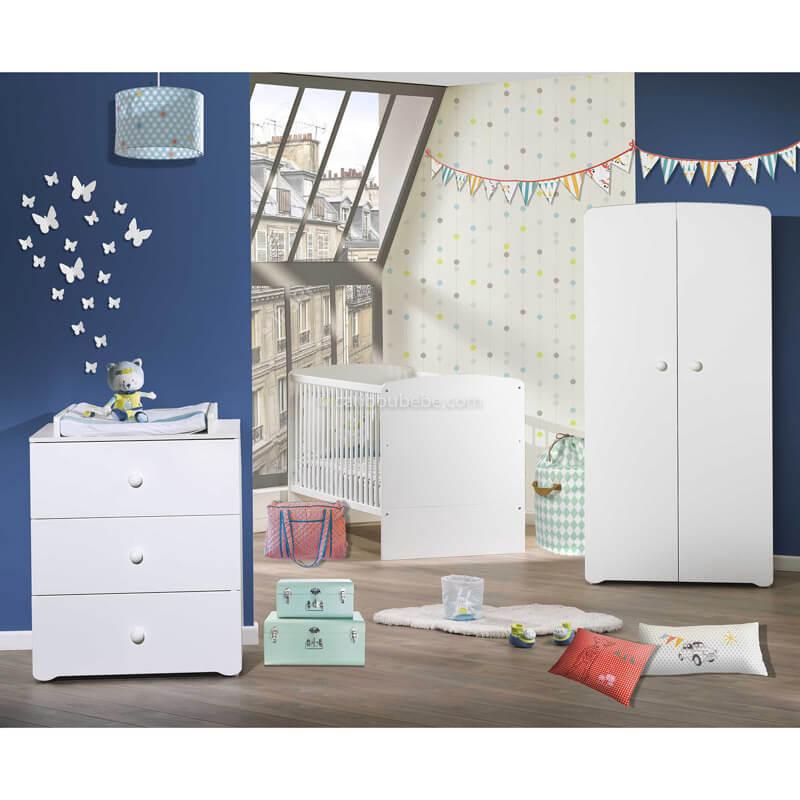 Chambre Blanc New Basic Sauthon Baby Price