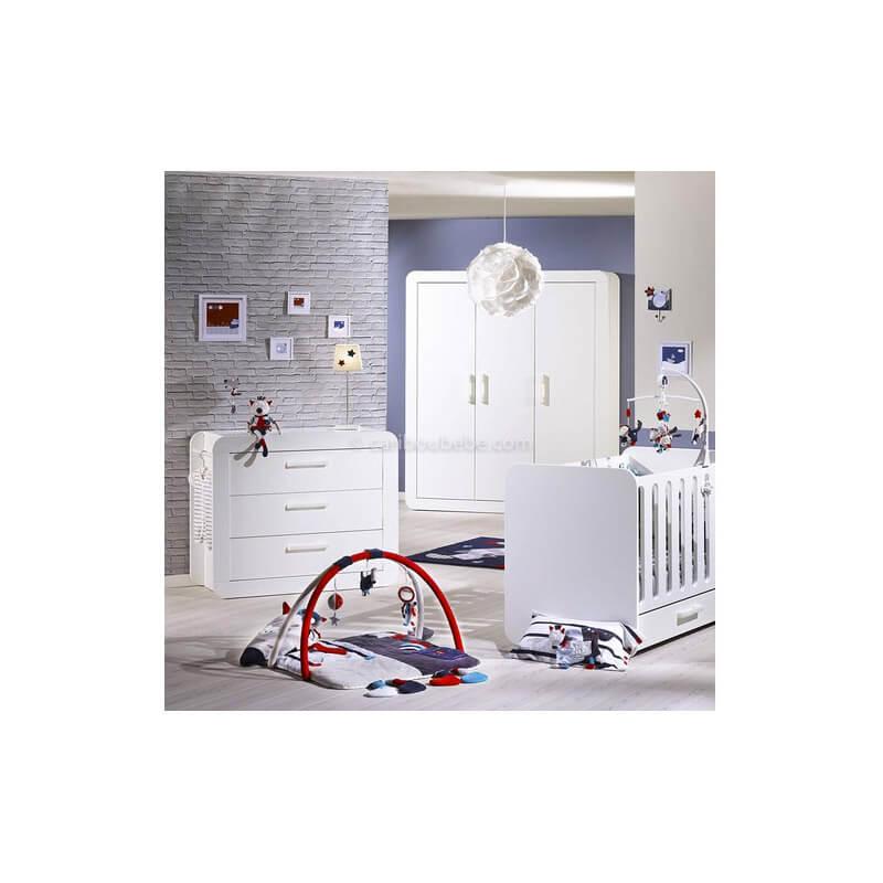 Armoire 3 Portes Astride Blanc Sauthon Baby Price