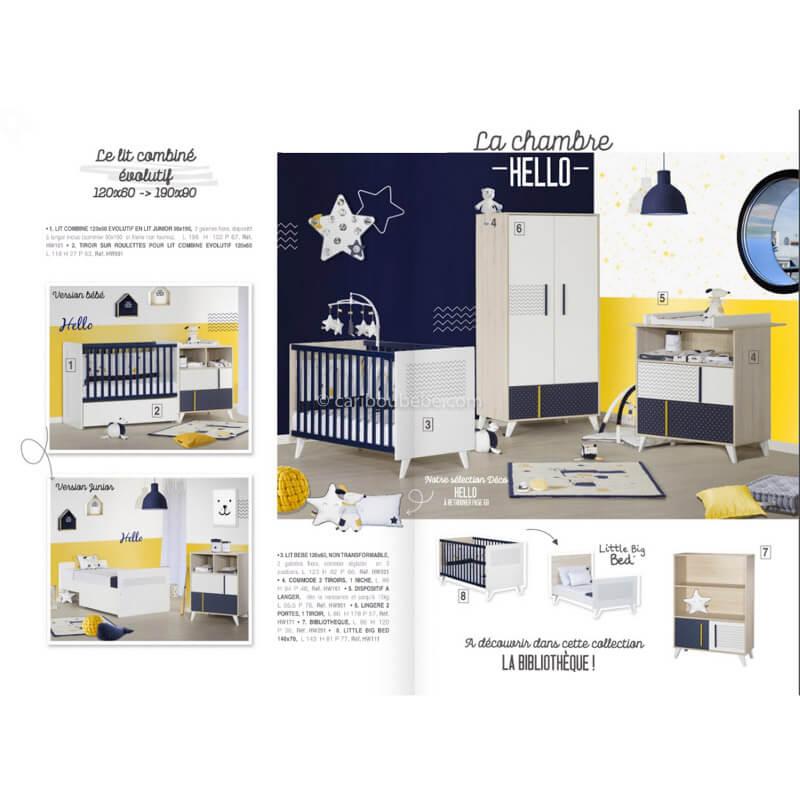 Chambre complète Hello Sauthon Meubles