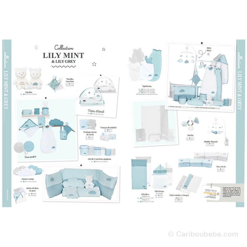 Collection Lily Mint Sauthon Baby Déco