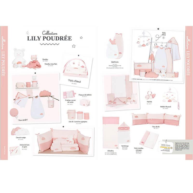 Collection Rose Lily Poudrée Sauthon Baby Déco