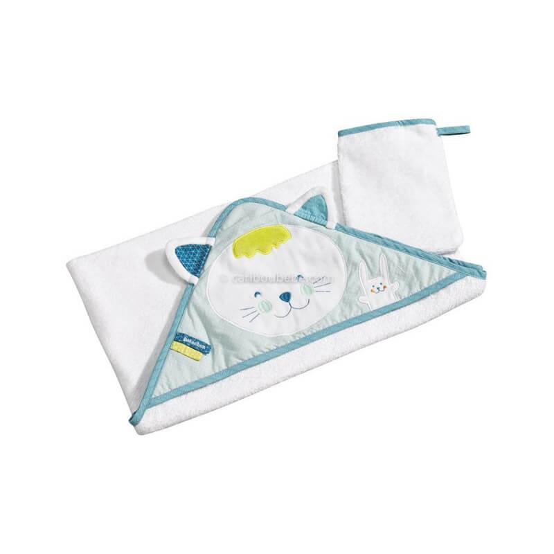Sortie de bain + Gant Patachon Sauthon Baby Déco