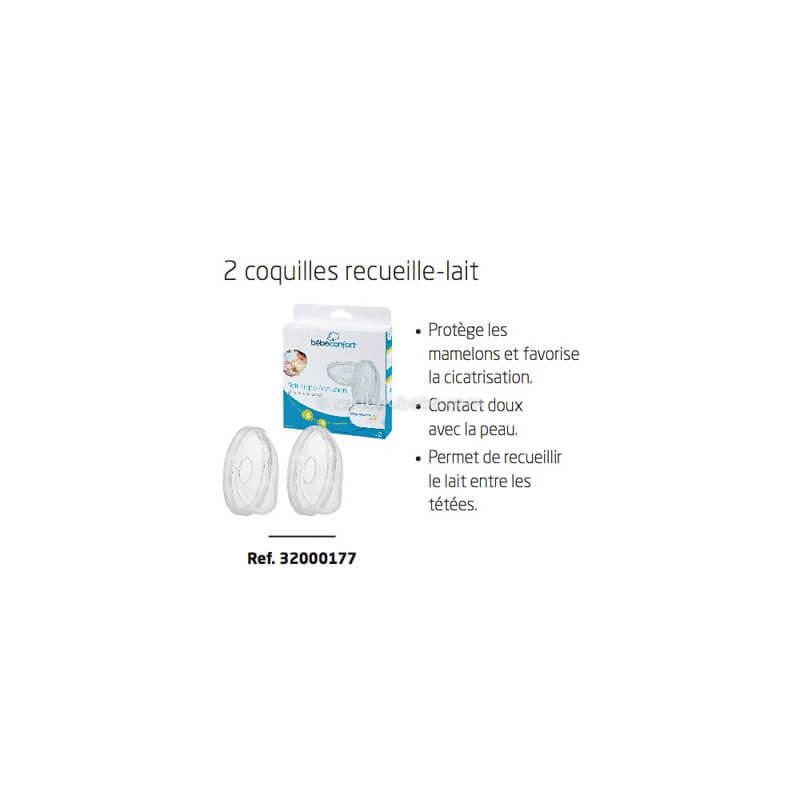 2 Coquilles Recueille Lait Thermobaby