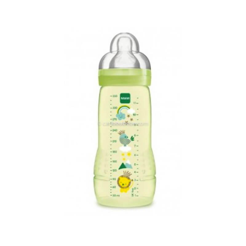 Biberon Easy Active 2ème Age Coloré 330ml Vert Unisexe Mam Baby
