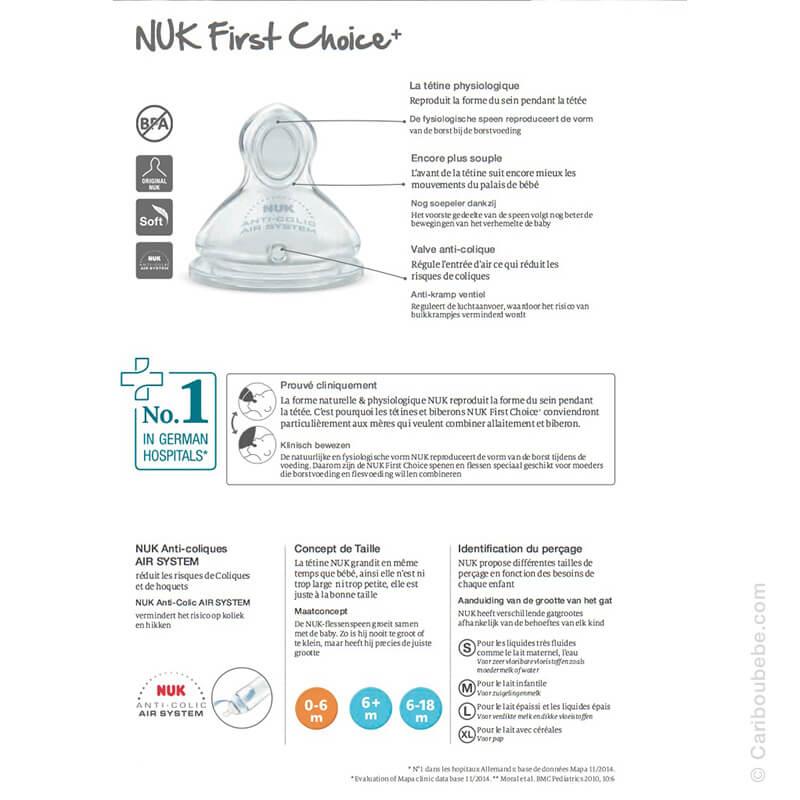 Tétines First Choice+ Infos Nuk
