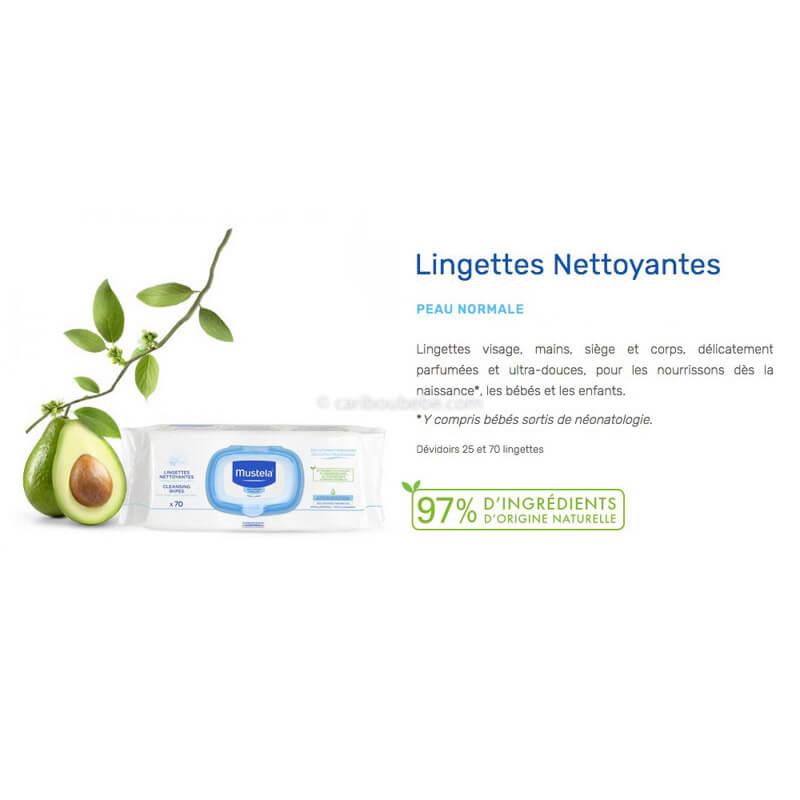 Lingette Nettoyante Mustella