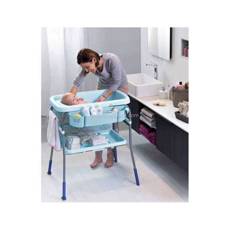 Baignoire & Table à Langer Cuddle Et Bubble Dusty Océan Chicco