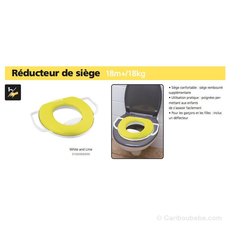 Réducteur de WC White & Lime +18M Safety
