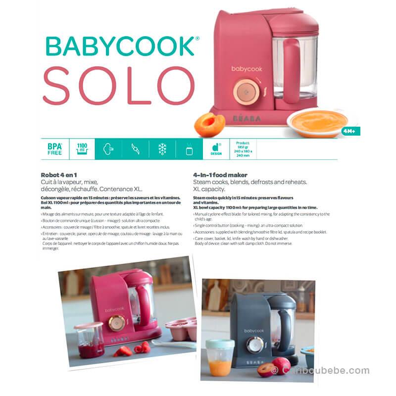 Babycook Solo Robot 4en1 4M Beaba