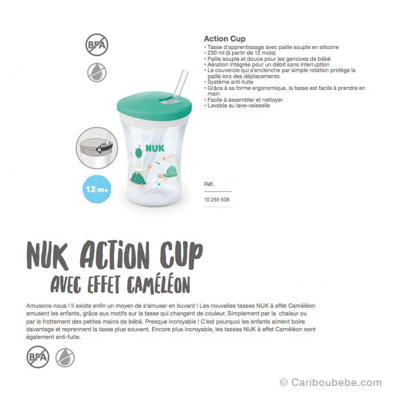 Tasses d'Apprentissage Action Cup +12M Nuk