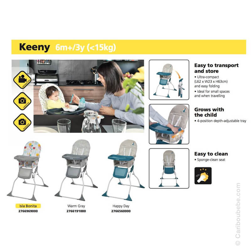 Chaise Haute Keeny 6M/3A Safety