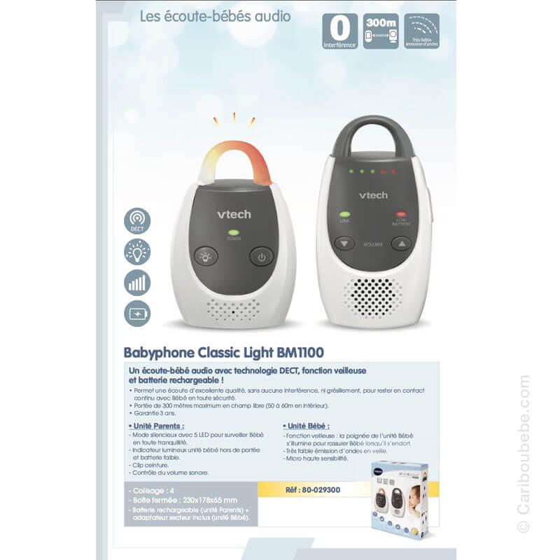 Écoute Bébé Babyphone Classic Light BM1100 VTech