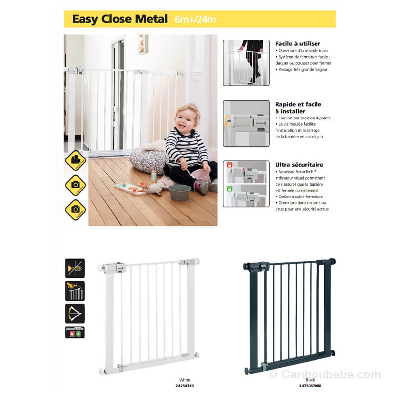 Barrière Easy Close Métal Safety