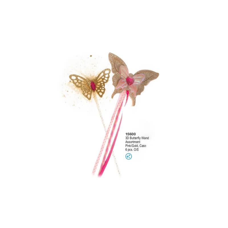 Baguette papillon 3D x6 Great Pretenders