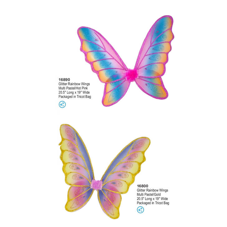 Glitter Rainbow Wings Great Pretenders