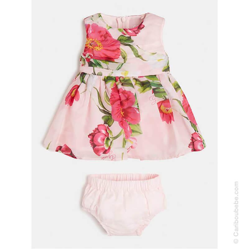 Ensemble Robe SM Imprimé Floral All Over + Culotte Guess Kids