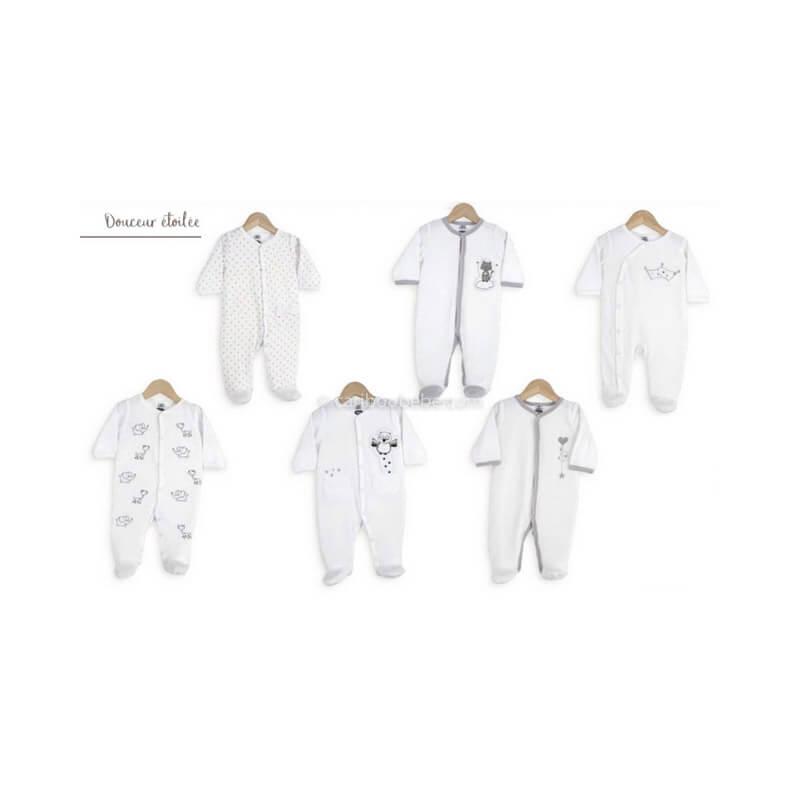 Pyjama x6 00-0-1M Douceur Étoilée Manche Longue Novatex Body