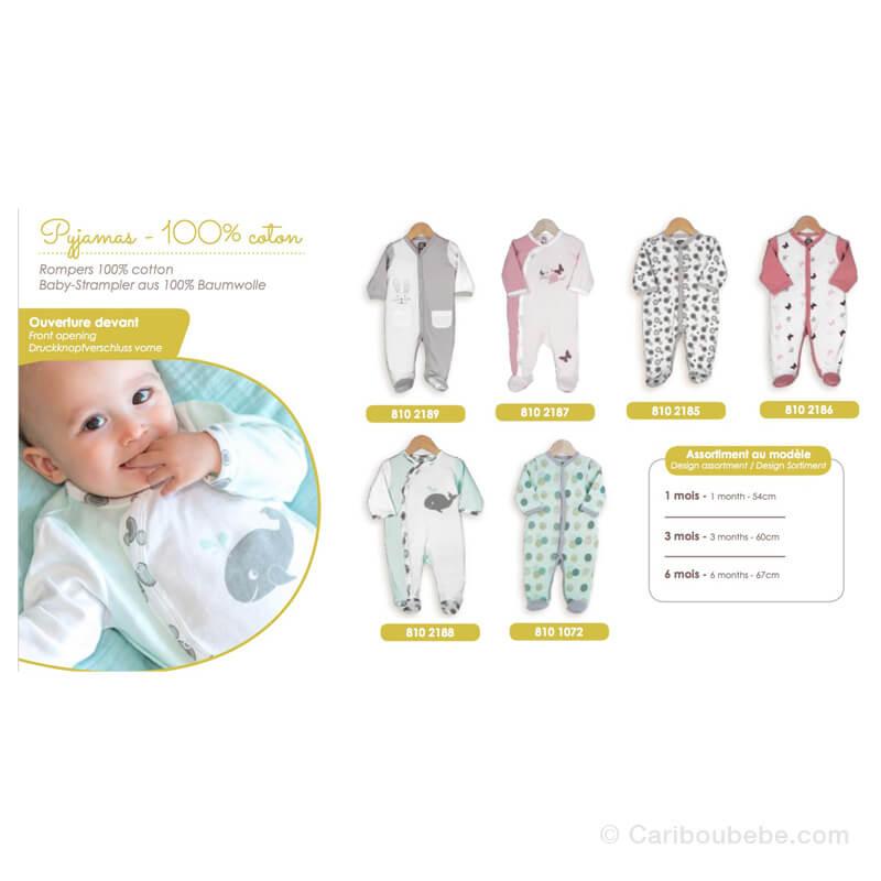 Pyjama Coton Manche Longue 1-3-6M Novatex