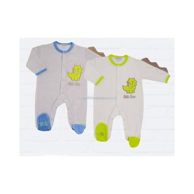 Pyjama Coton Gris 00-0-1M Manche Longue Les Chatounets Body Dors Bien