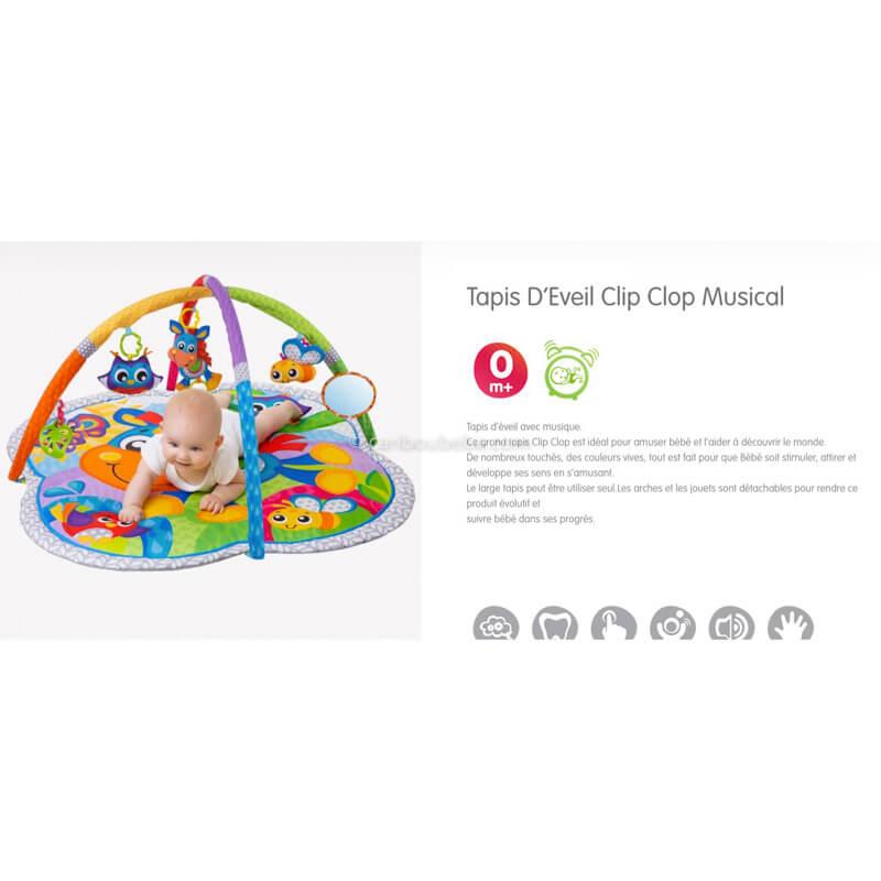 Tapis d'Éveil Clip Clop Musical Playgro
