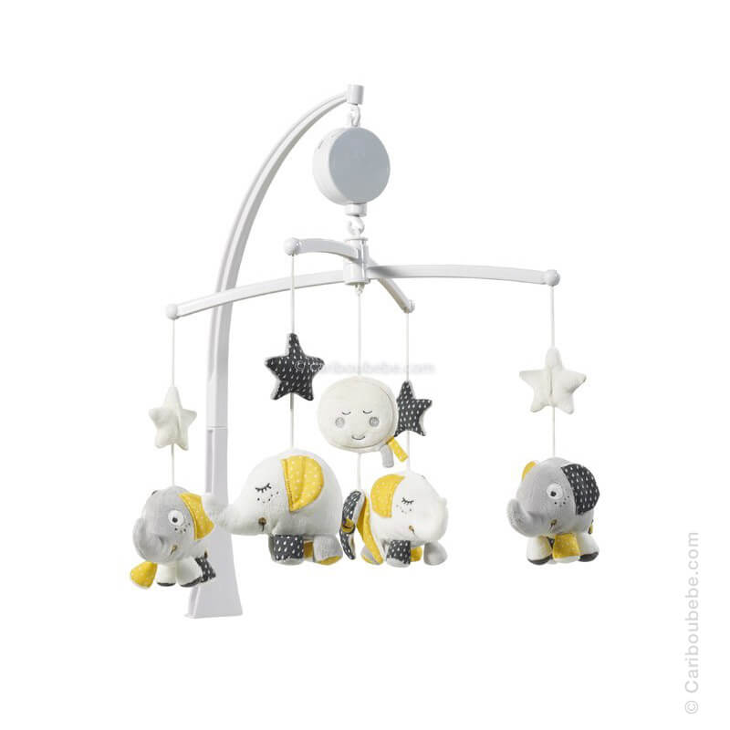 Mobile Musical Babyfan +0M Sauthon Baby Déco