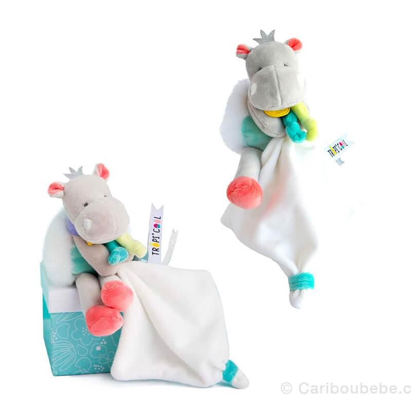 Pantin Avec Doudou PM 20cm Hippo Doudou&Cie