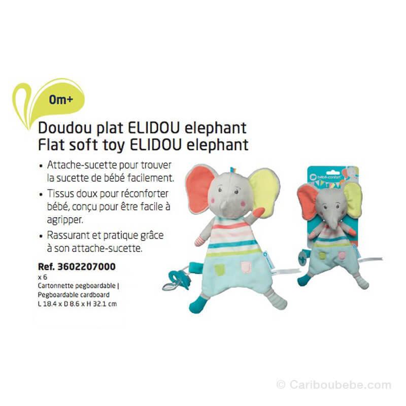 Doudou Plat Éléphant Elidou Bébé Confort