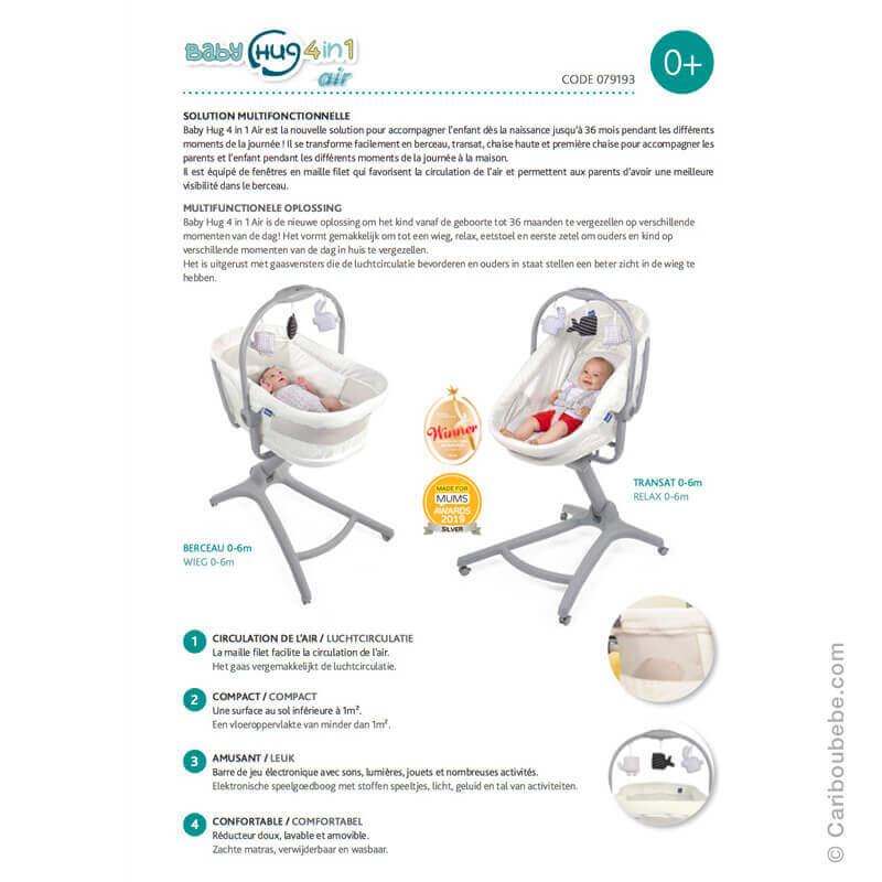 Transat Baby Hug Air 4en1 Chicco