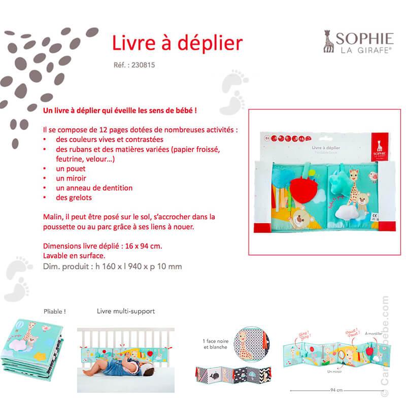 Livre à Déplier +0M Sophie La Girafe