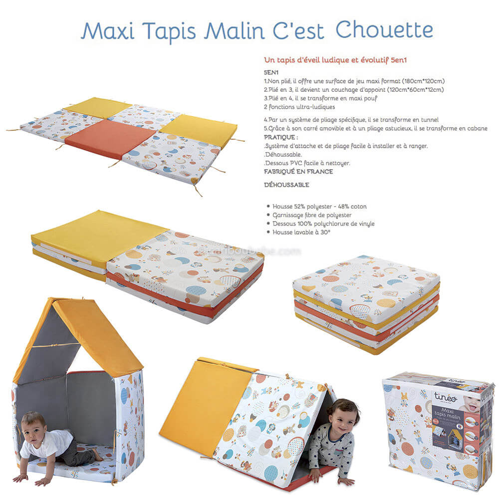 Maxi Tapis Malin Chouette 5en1 0M+ Candide&Tinéo