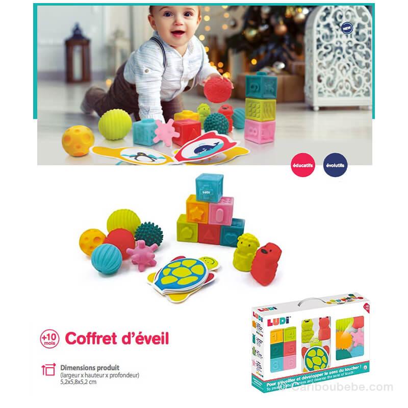 Coffret d'Éveil : Livre+Cubes+Balles +10M Ludi