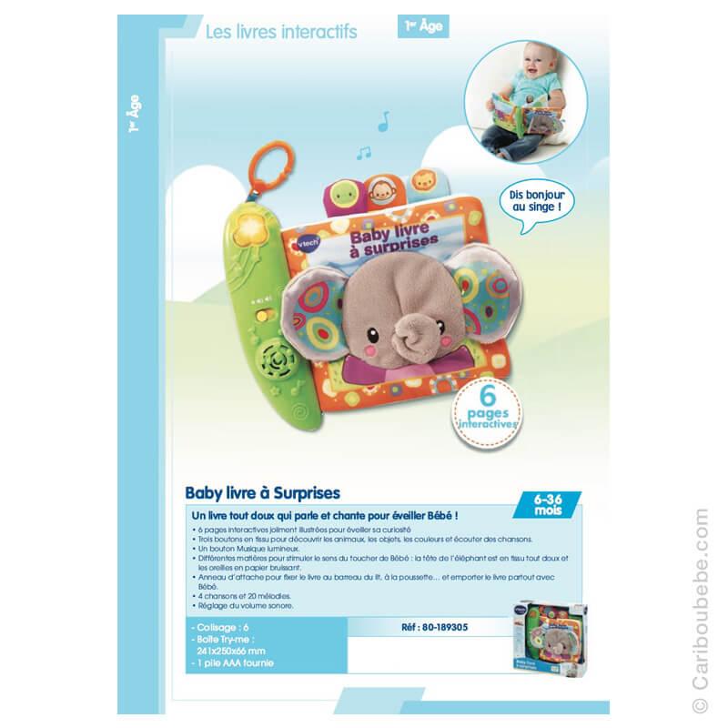 Baby Livre à Surprises 6-36M VTech