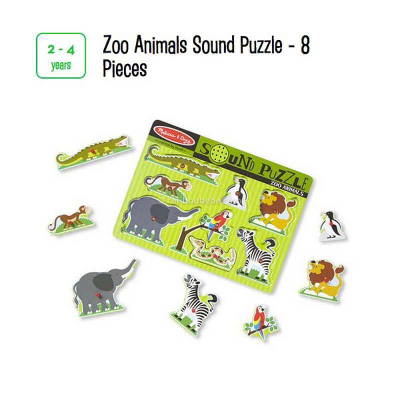 Zoo Animals Sound Puzzle 8 Pcs 2-4A Melissa&Doug