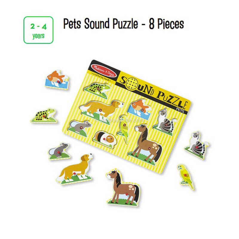 Pets Sound Puzzle 8 Pcs 2-4A Melissa&Doug