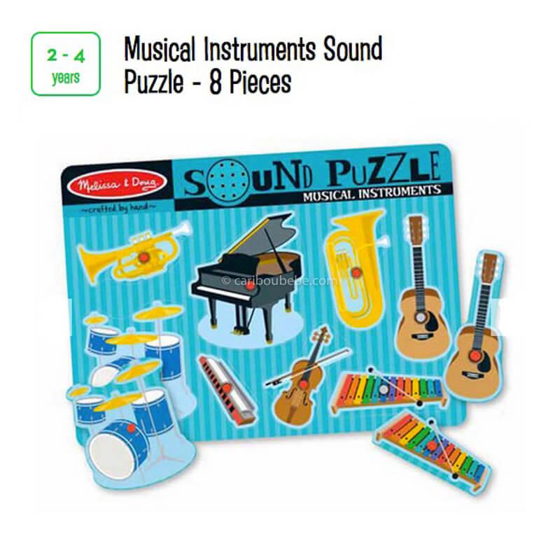 Musical Instruments Sound Puzzle 8Pcs 2-4A Melissa&Doug