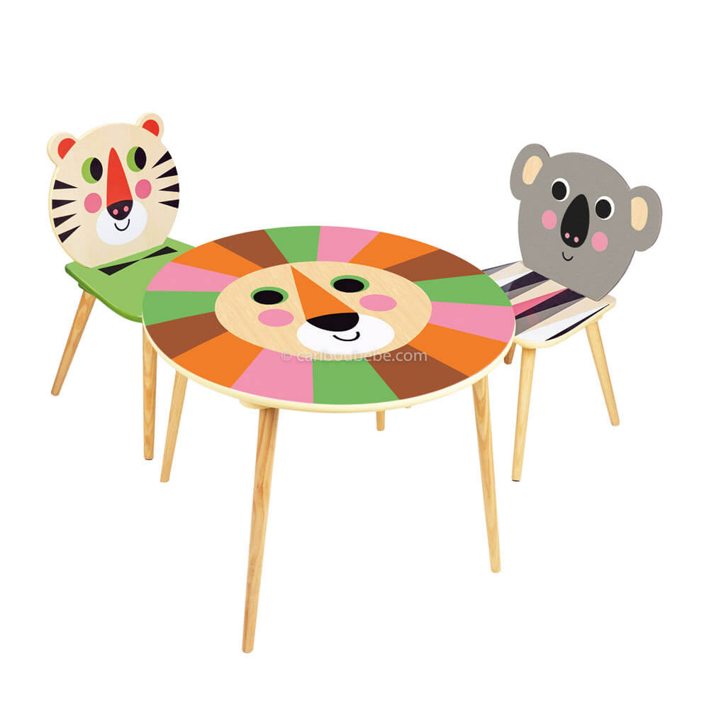 Table Lion, Chaise Tigre ou Koala 2A Villac