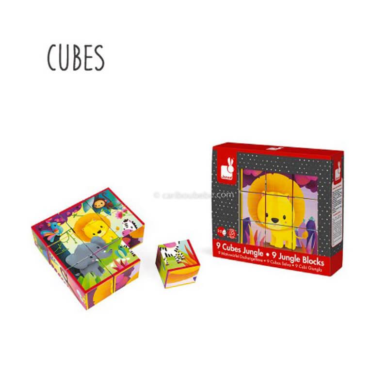 Cubes Animaux de la Jungle 2-5A Janod