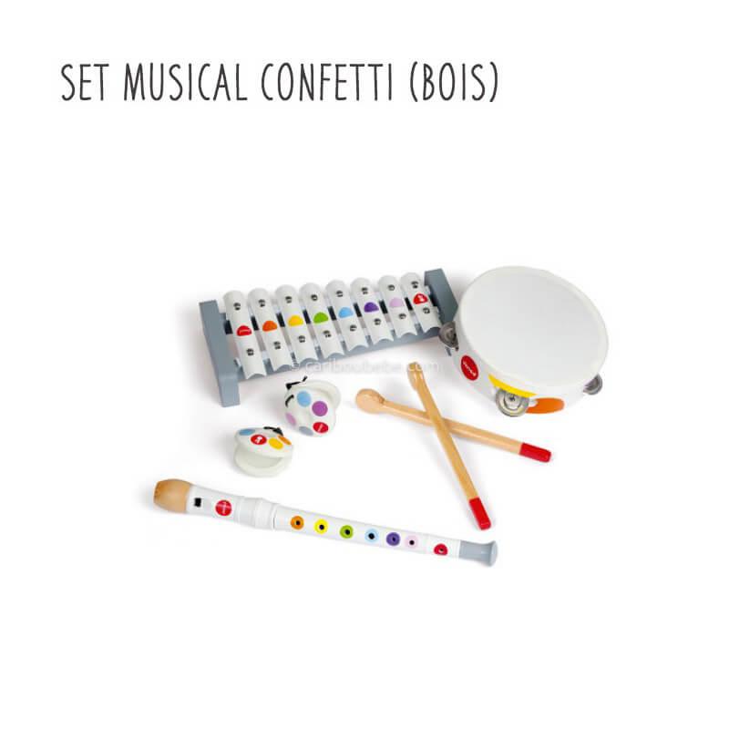 Set Musical Confetti en Bois 2-5A Janod