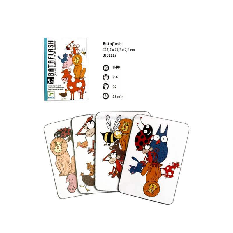 Jeu de Cartes Bataflash 5-99A Djeco