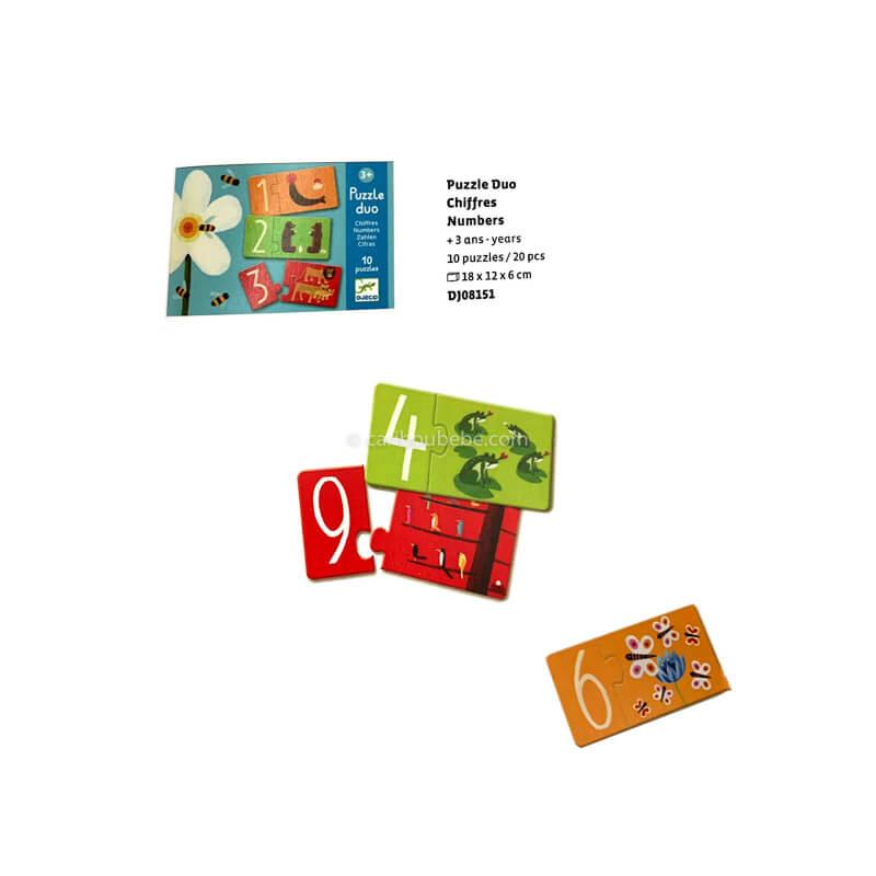 Puzzle Duo Chiffres +3A Djeco