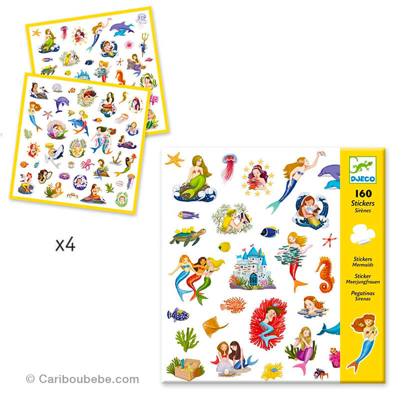 Stickers Papiers Sirènes 4-8A Djeco
