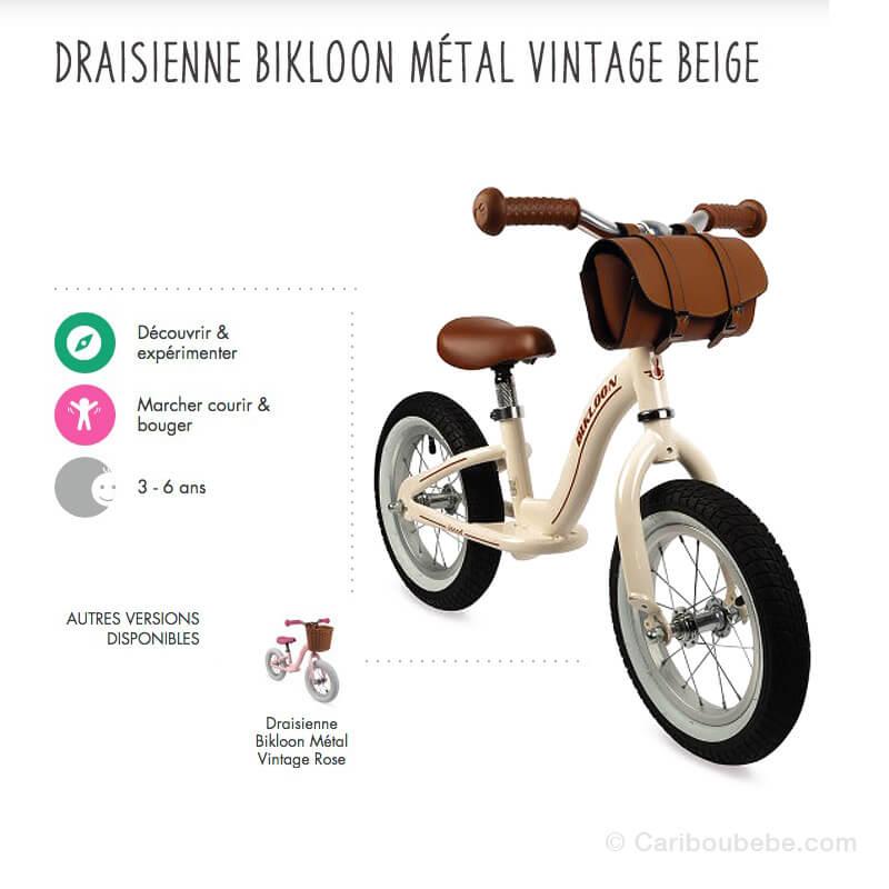 Draisiennes Bikloon Métal Vintage 3-6A Janod