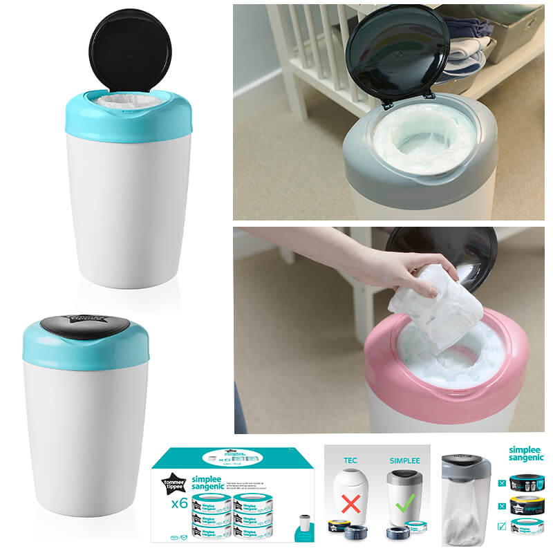 Poubelles de couches / Recharges Simplee Sangenic Tommee Tippee